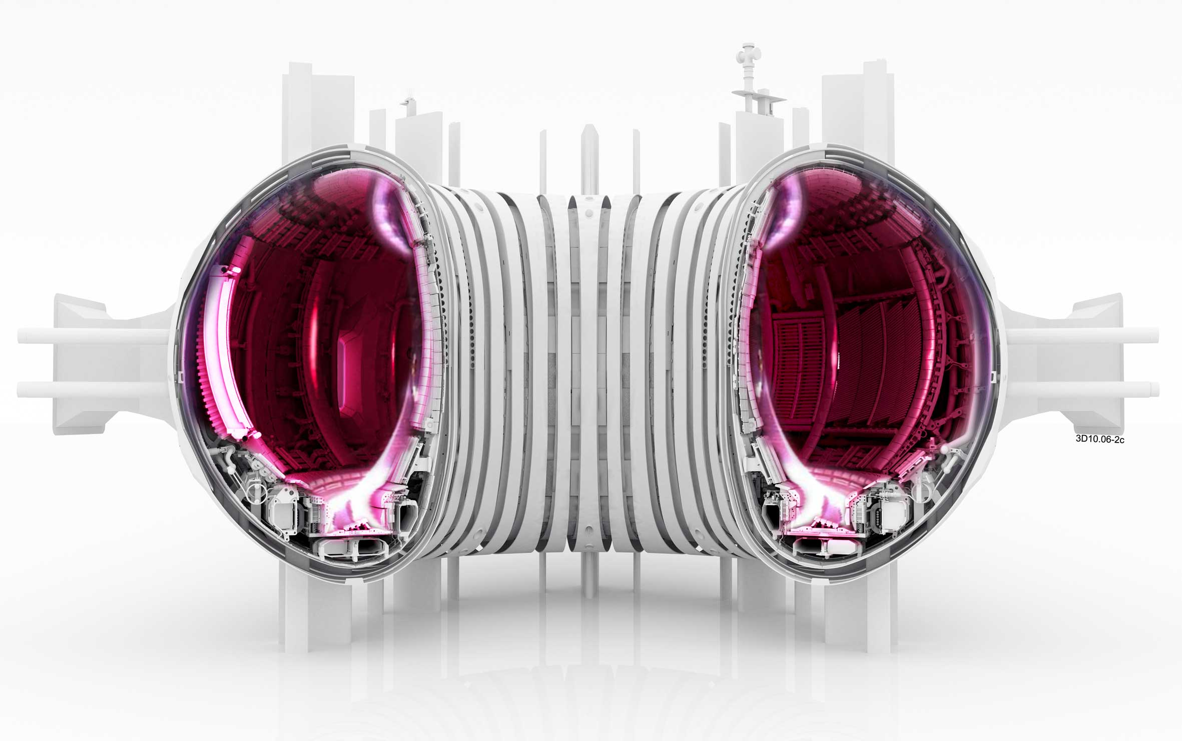 Illustration of a tokamak