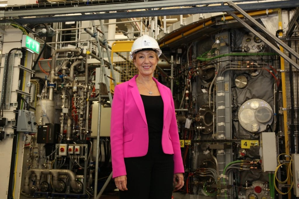 Andrea Leadsom at the MAST Upgrade fusion experiment
