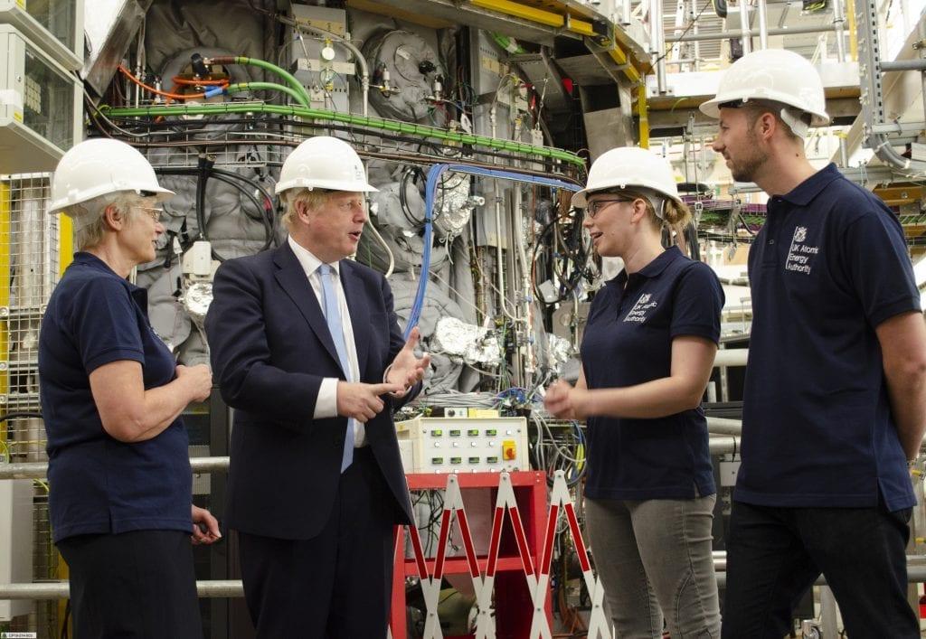 Prime Minister Boris Johnson at MAST Upgrade