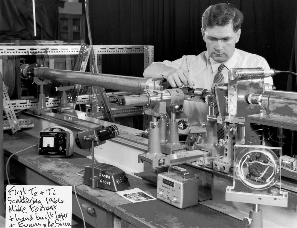 Dr Mike Forrest - Thomson scattering experiment, 1964