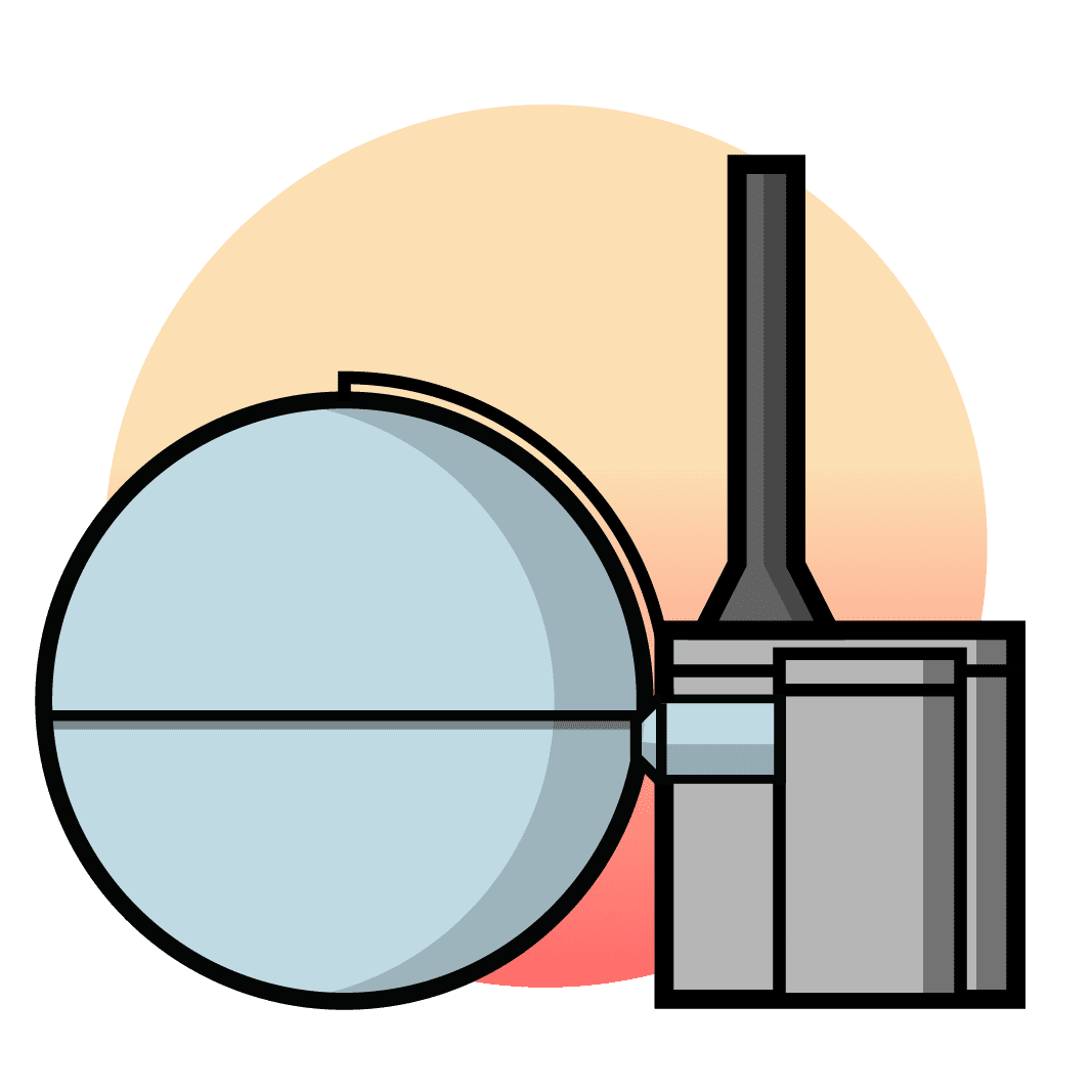 Nuclear fission illustration