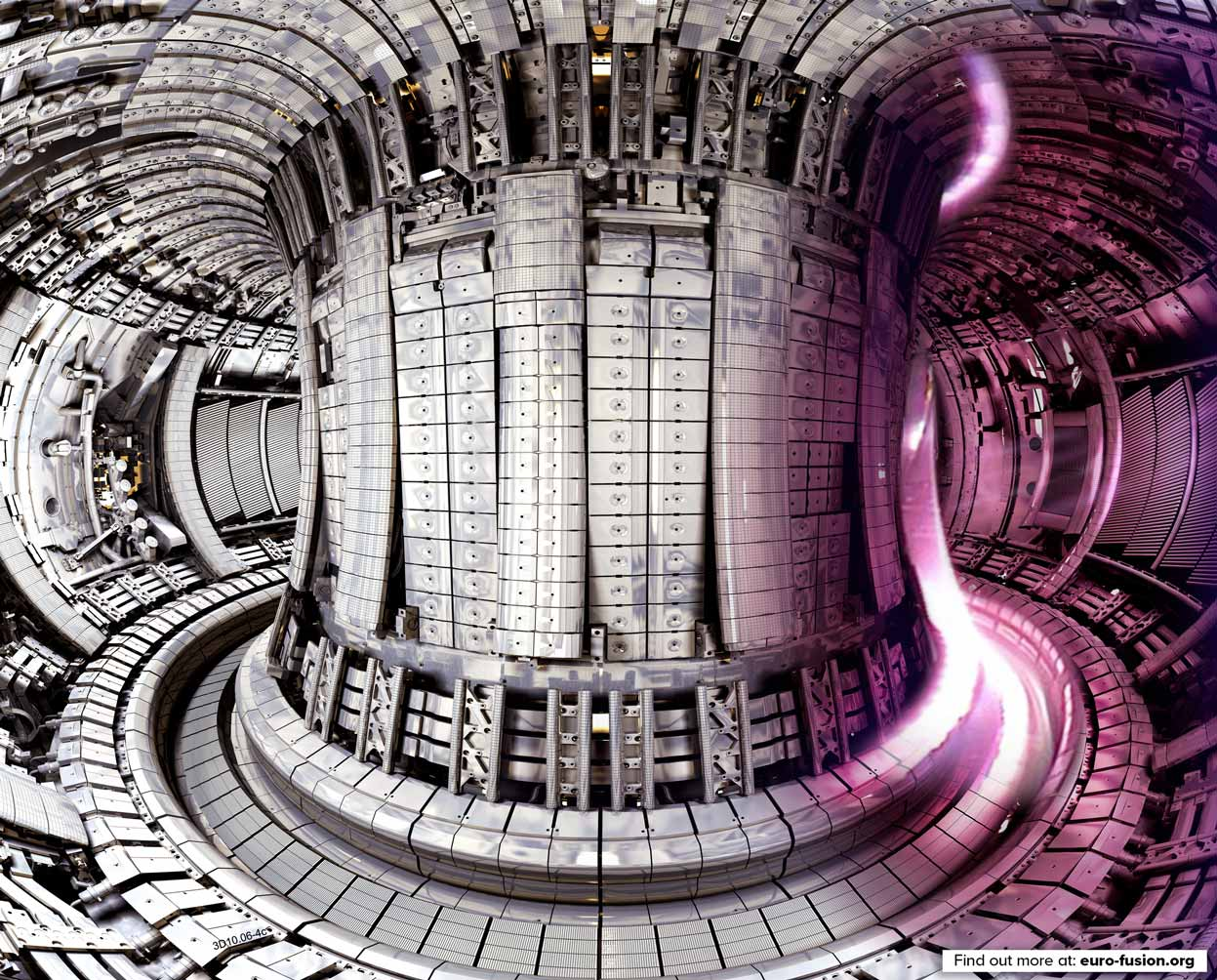 Illustration of the interior of JET showing a plasma