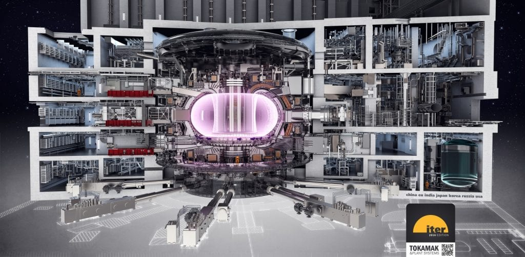 Illustration of ITER (courtesy ITER Organization)