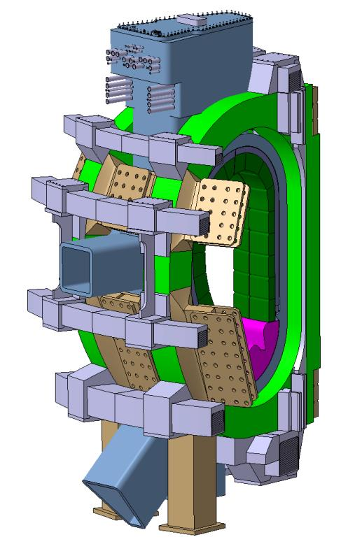The magnetic cage and ports ona tokamak