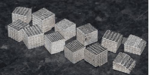 Figure 1 WTa 1cm3 lattice