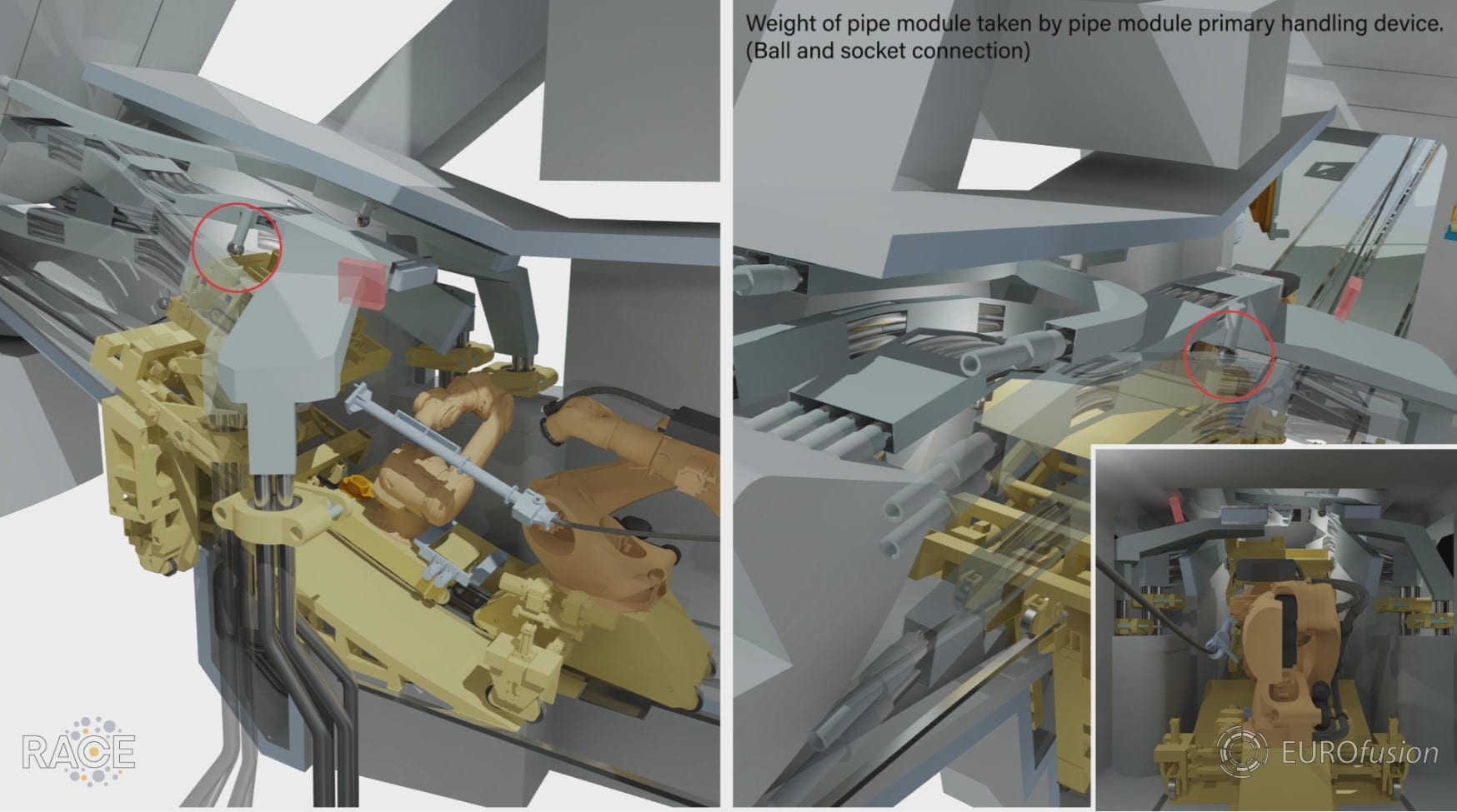 An image from the EU DEMO lower port maintenance animation from 2018